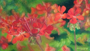 junius wong_Geraniums Shout For Joy (Psalm 66) 2013